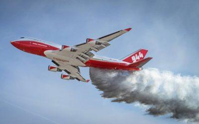 Maior avião tanque do mundo na luta para apagar incêndios florestais