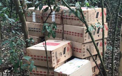 Policiais  Federal encontram depósito de cigarros em porto clandestino