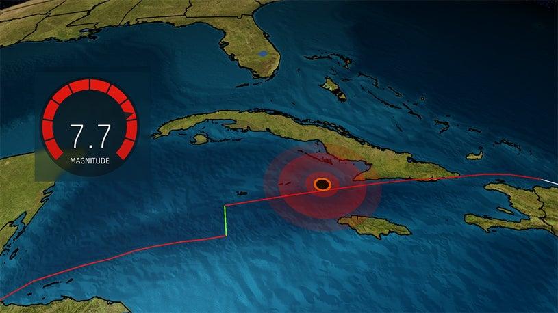 Terremoto atinge sul da florida mag7.7