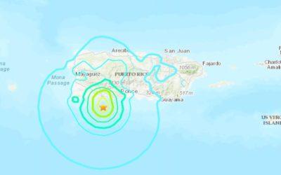 Terremoto mag 5.8 em Porto Rico