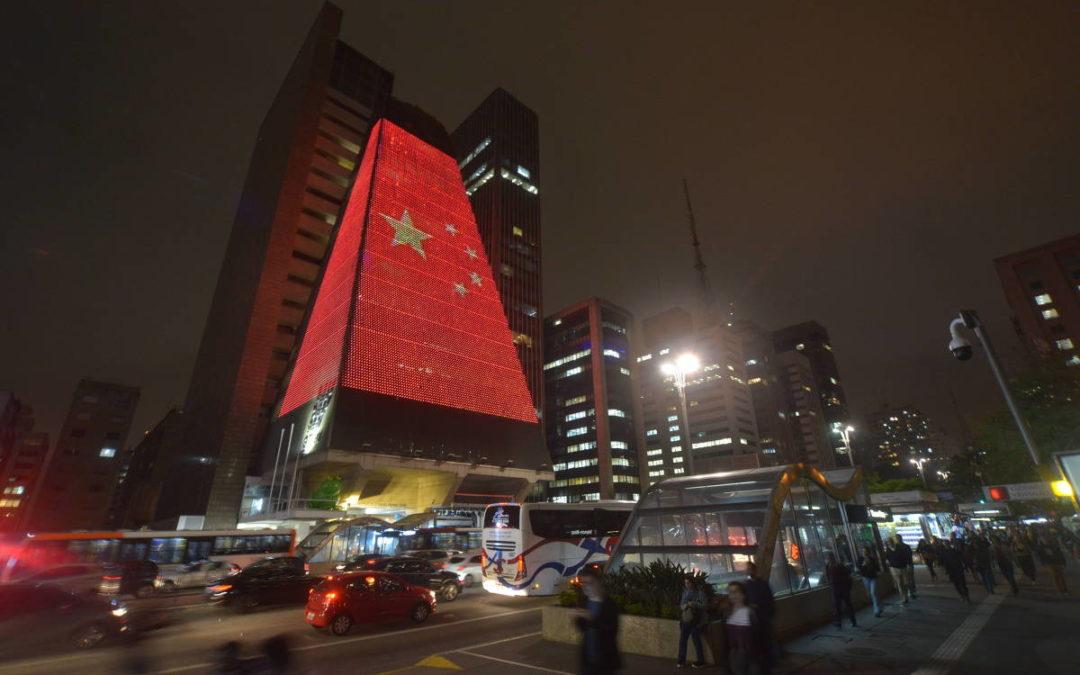 Fiesp cobre predio com bandeira chinesa pcc