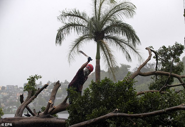 É previsto que a Tempestade tropical Isaias se tornar um furacão na sexta-feira