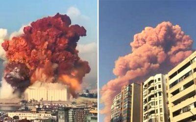 Explosão no Líbano causada por 2.750 toneladas de nitrato de amonia  mata e deixa mais de 3000 mil feridos