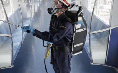 Spray com revestimento antiviral são usados em vagões de trem no Japão