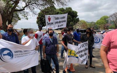 Ato em Brasília pede derrubada do veto de Bolsonaro à desoneração da folha de empresas