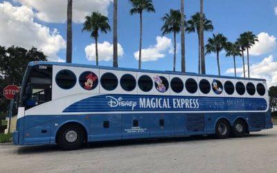 O sistema de transporte da Disney do Aeroporto Internacional de Orlando para seus hotéis da Disney acaba em 2022