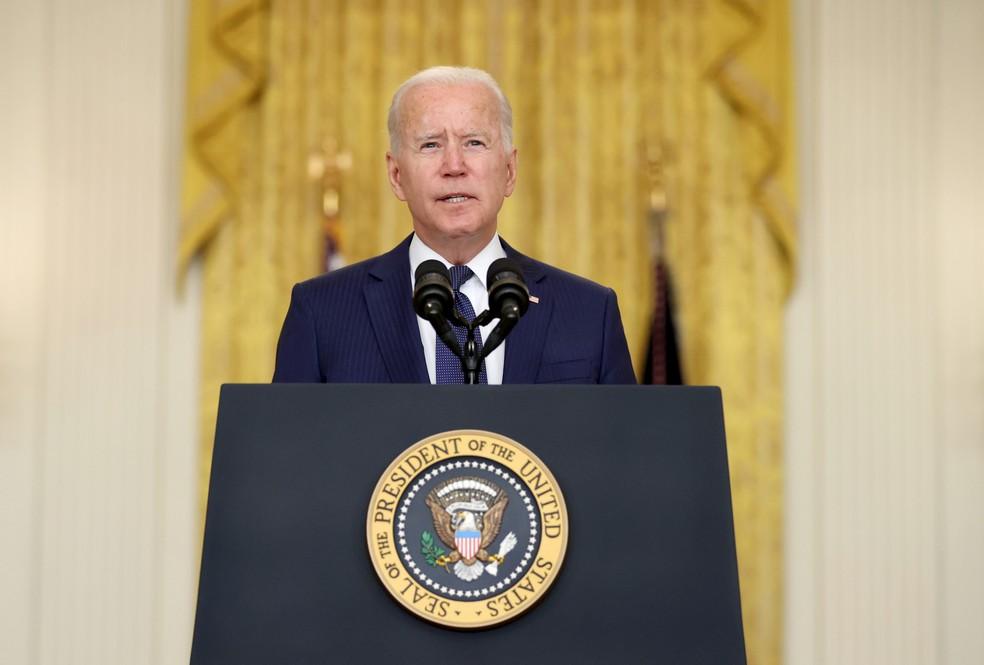Não perdoaremos e não esqueceremos diz  Presidente Biden sobre ataque terrorista a aeroporto no Afeganistão